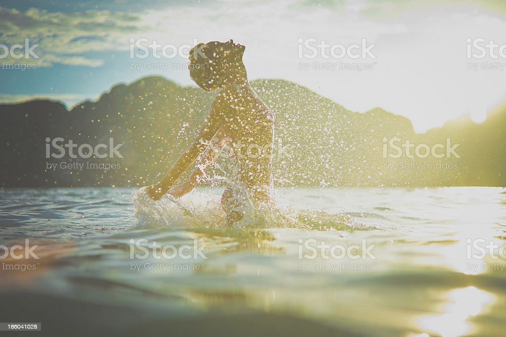 Young woman enjoying the sea royalty-free stock photo