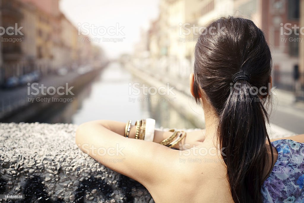 Young woman enjoying the view royalty-free stock photo