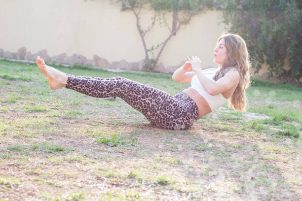 Young woman exercising outdoors