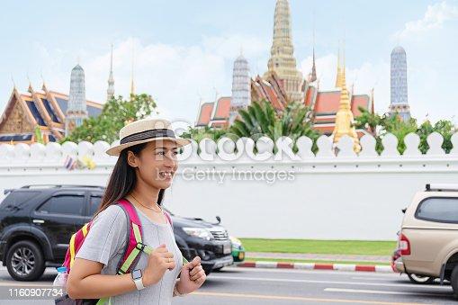 Asia, Bangkok, Thailand, Wat Pho, Adult, Wat Phra Kaew, Exploration, Tourist, Backpack, Temple - Building, Landmarks