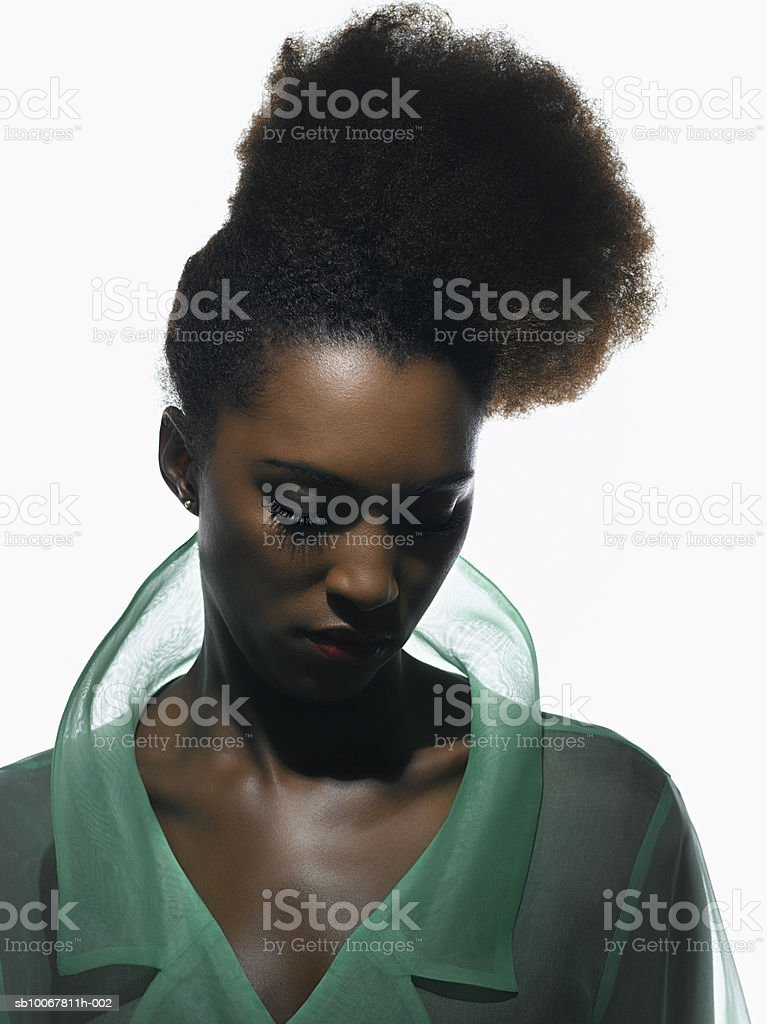 Young woman eyes closed, close-up royalty-free stock photo