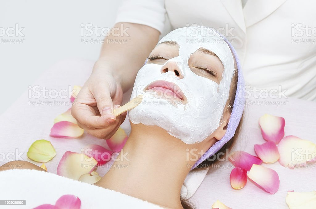 Young woman facial therapy royalty-free stock photo