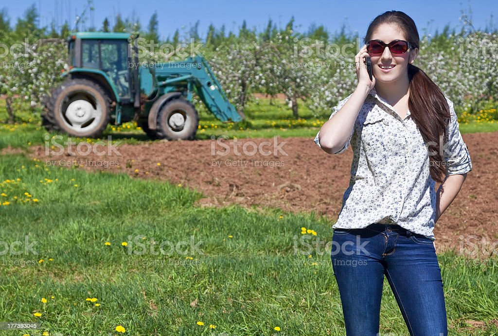 Young Woman Farmer royalty-free stock photo
