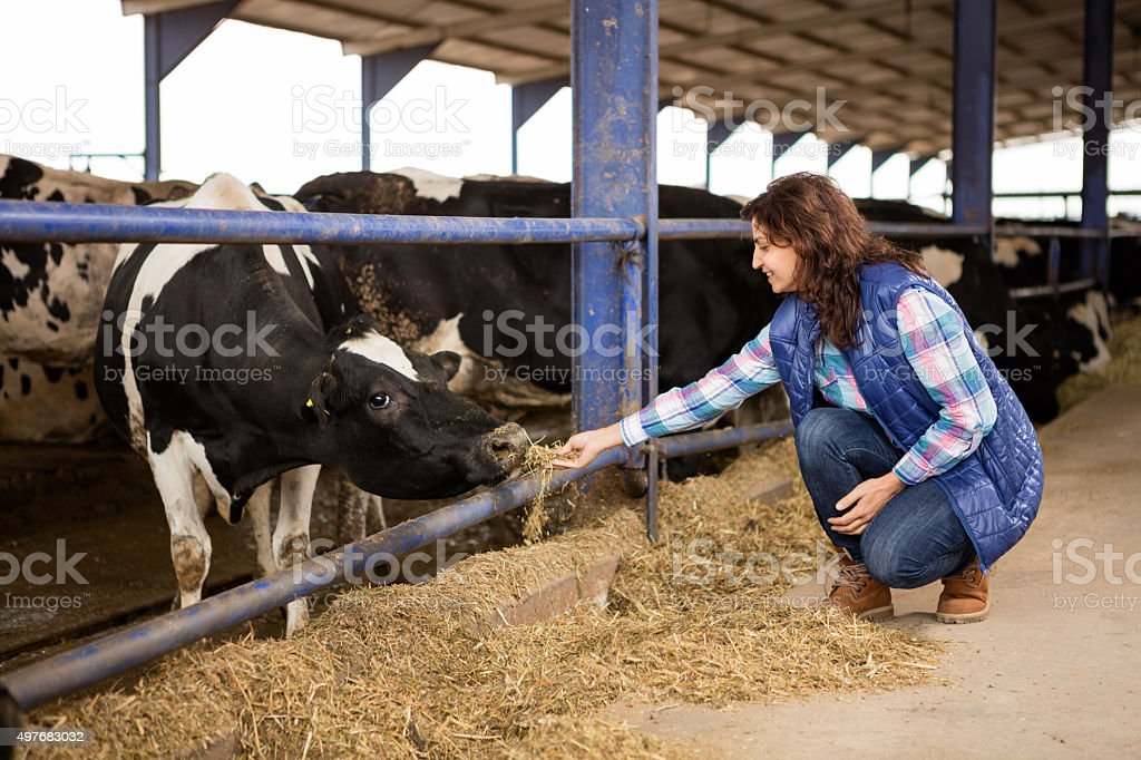 Jeune femme Farmer - Photo