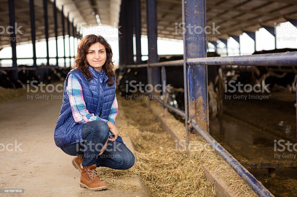 Junge Frau Farmer – Foto