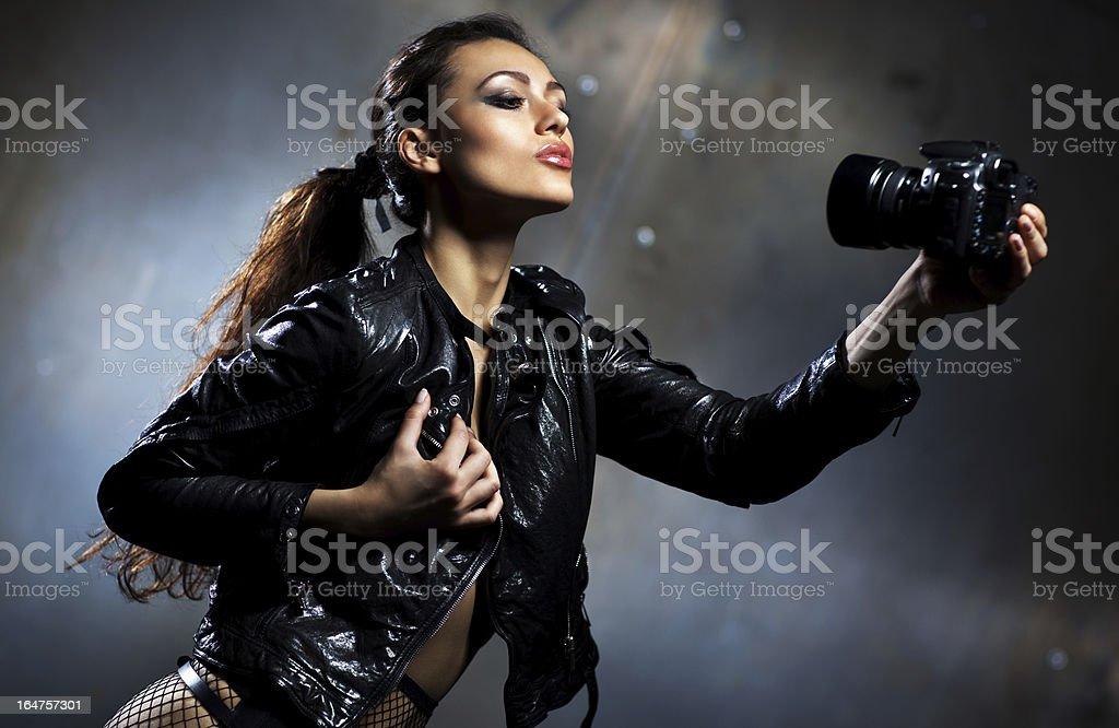 Young woman fashion portrait royalty-free stock photo