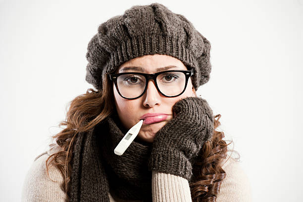 young woman feeling is sick - funny fat lady stock photos and pictures