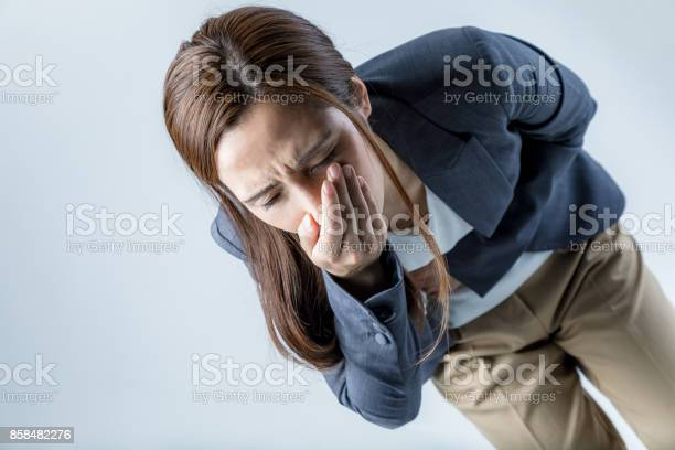 Young woman feeling nauseated picture id858482276?b=1&k=6&m=858482276&s=612x612&h=lhbi it ugewhy7p9awh5e0asypdzbgmwseppm7e4fa=