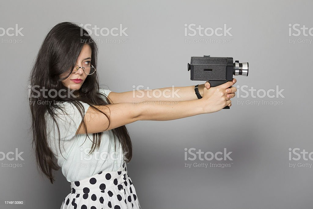 Young woman filming - Royalty-free 20-24 jaar Stockfoto