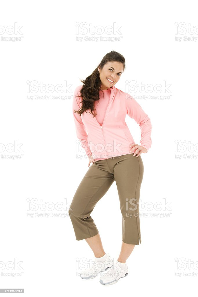 young woman Fitness Shoot stock photo