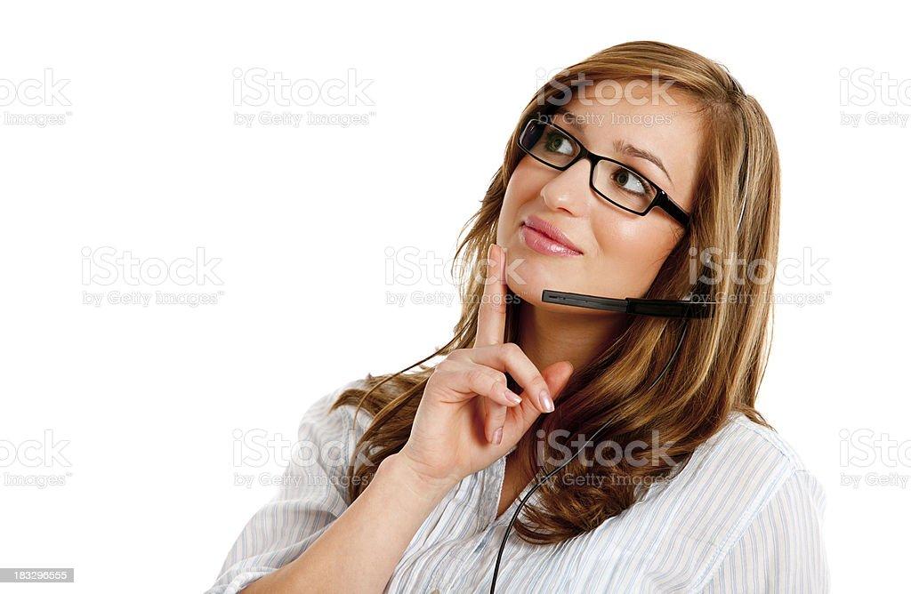Jeune femme dans un centre isolé sur blanc - Photo