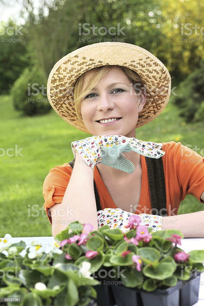 Young woman - gardening royalty-free stock photo