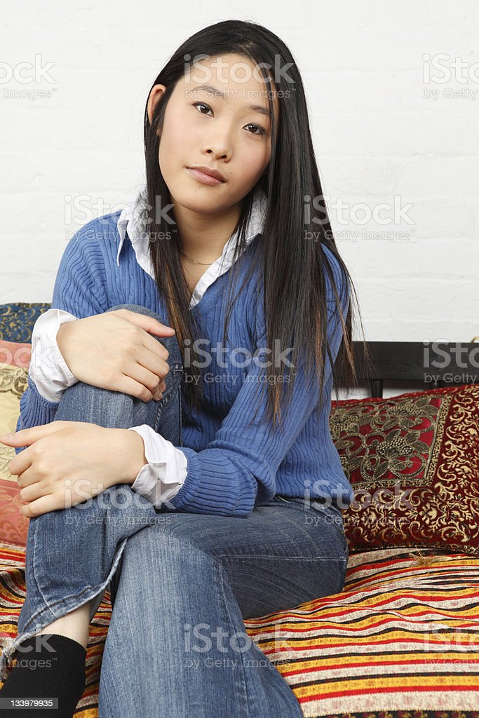 Young Woman Gazing royalty-free stock photo