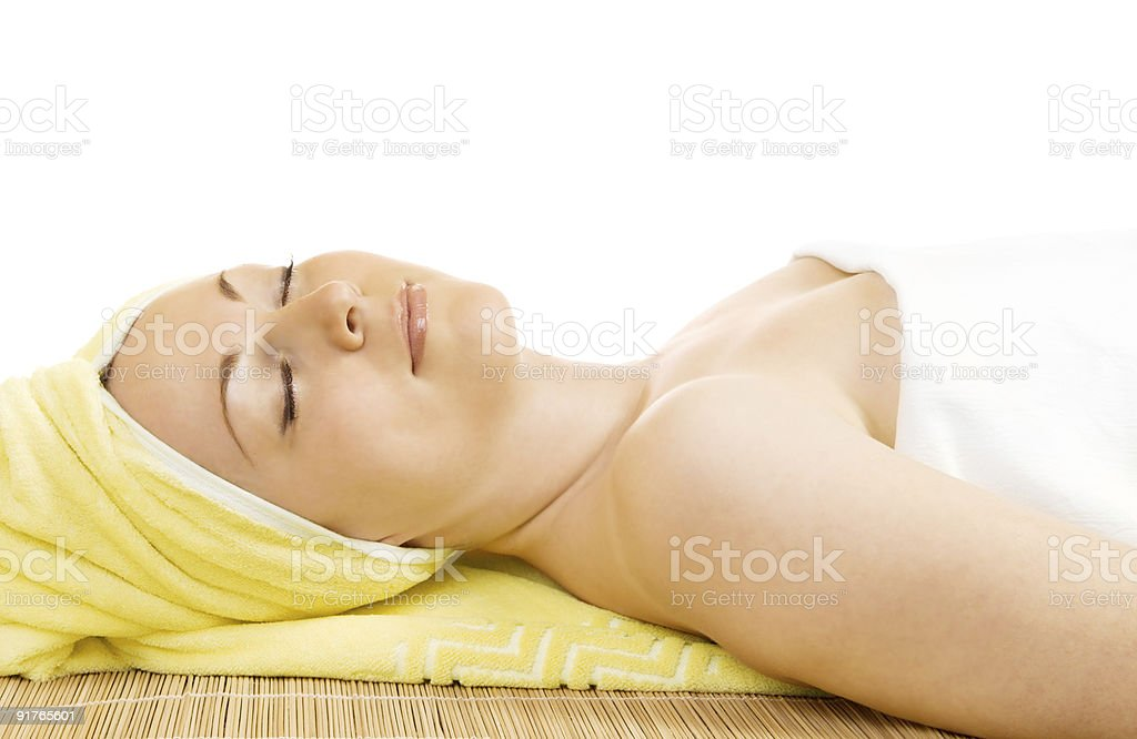 Young woman getting the spa treatment royalty-free stock photo