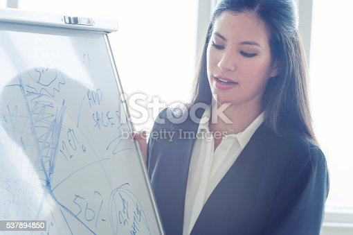 497451790 istock photo Young woman giving a boardroom presentation. 537894850