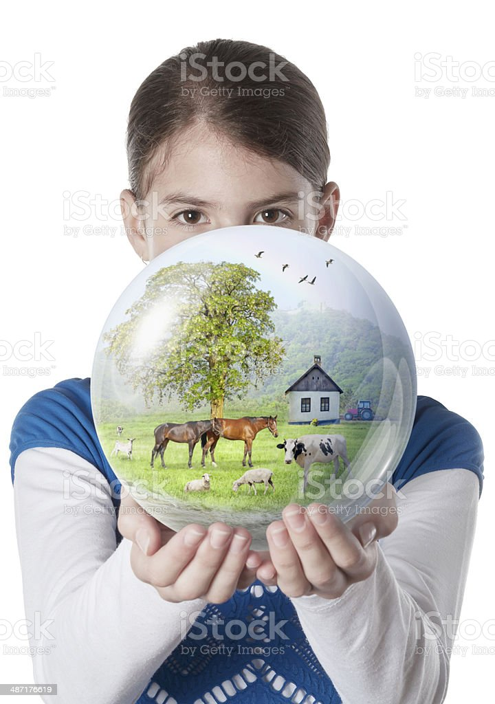 https://media.istockphoto.com/photos/young-woman-giving-farm-globe-picture-id487176619