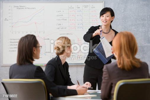 istock Young woman giving lecture 71919322
