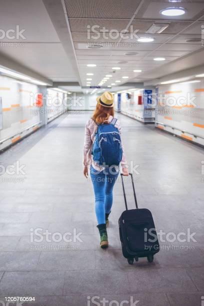 Young woman goes on a journey with a suitcase picture id1205760594?b=1&k=6&m=1205760594&s=612x612&h=u0xgd oc atggngtkczfysjx987gyanbtngxypngwxa=