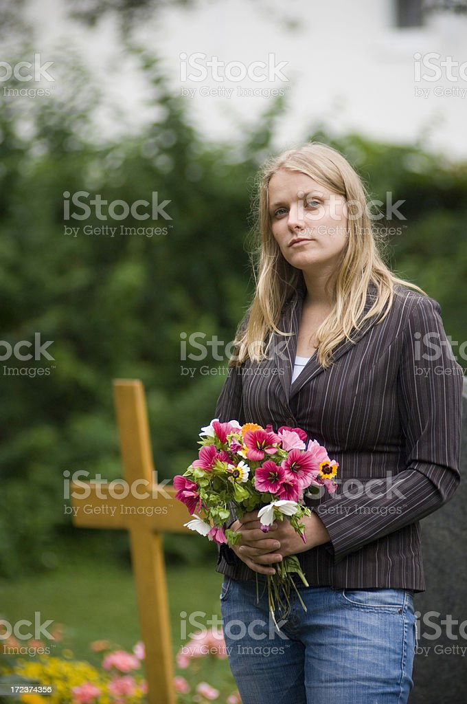 Young woman griefing royalty-free stock photo