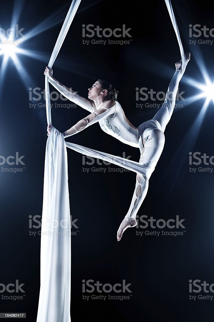 Young woman gymnast stock photo