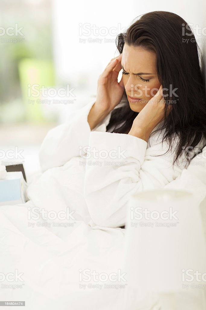 young woman having headache royalty-free stock photo