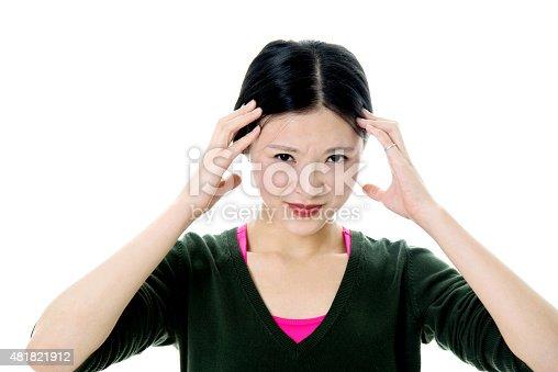 491747470 istock photo Young woman headache 481821912