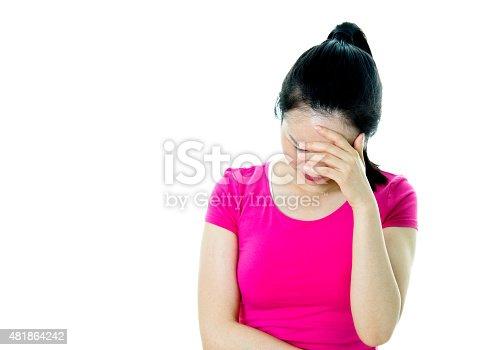 491747470 istock photo Young woman headache 481864242