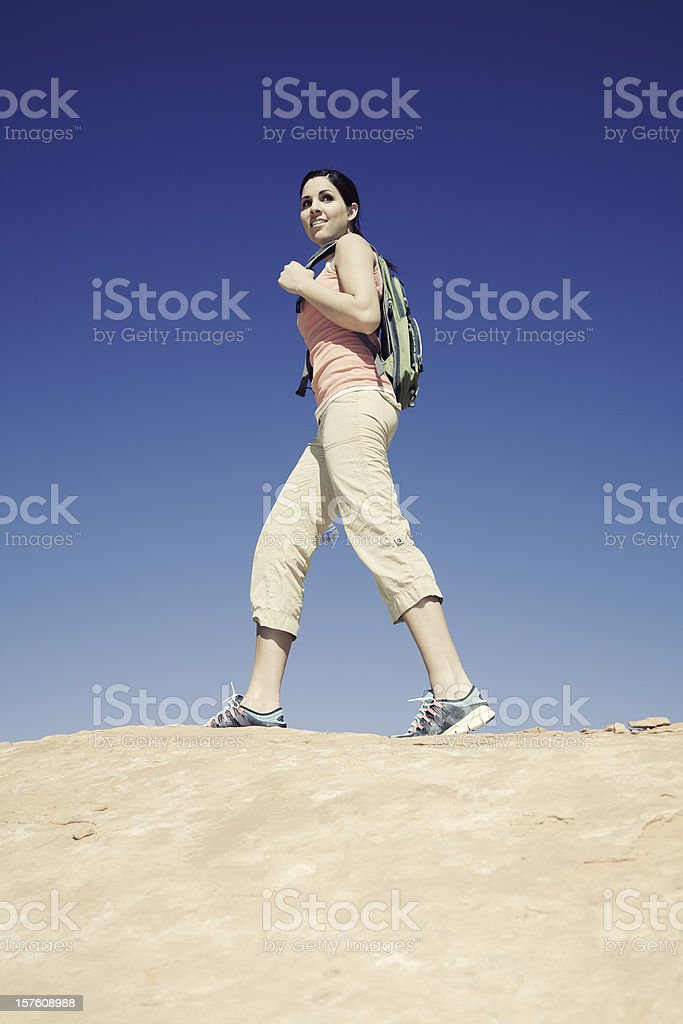 Young Woman Hiking stock photo