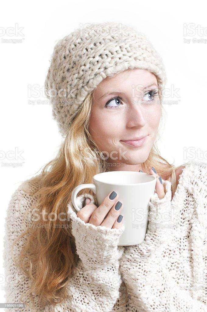 Young woman holding a mug. royalty-free stock photo