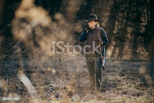 young woman, hunter, nature, hunting, spring