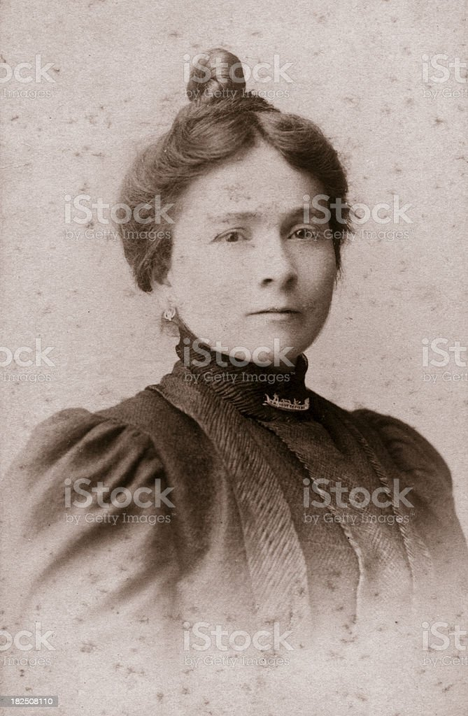 Young woman in 1915 royalty-free stock photo