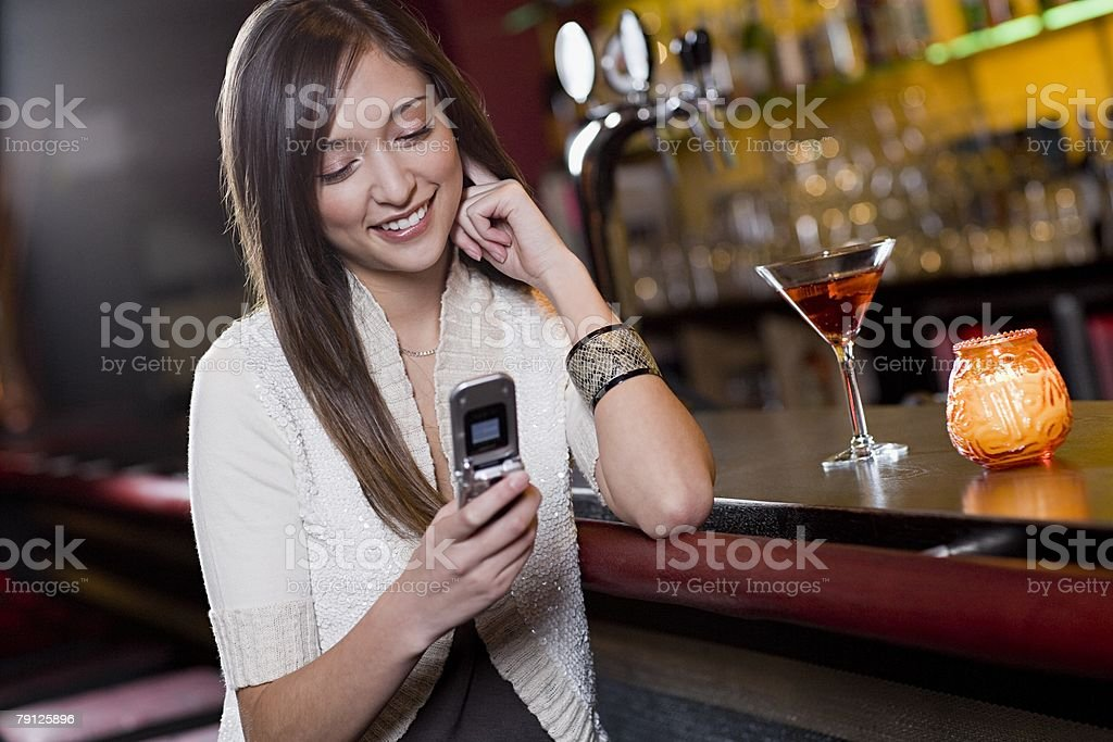 Young woman in a bar royalty-free stock photo