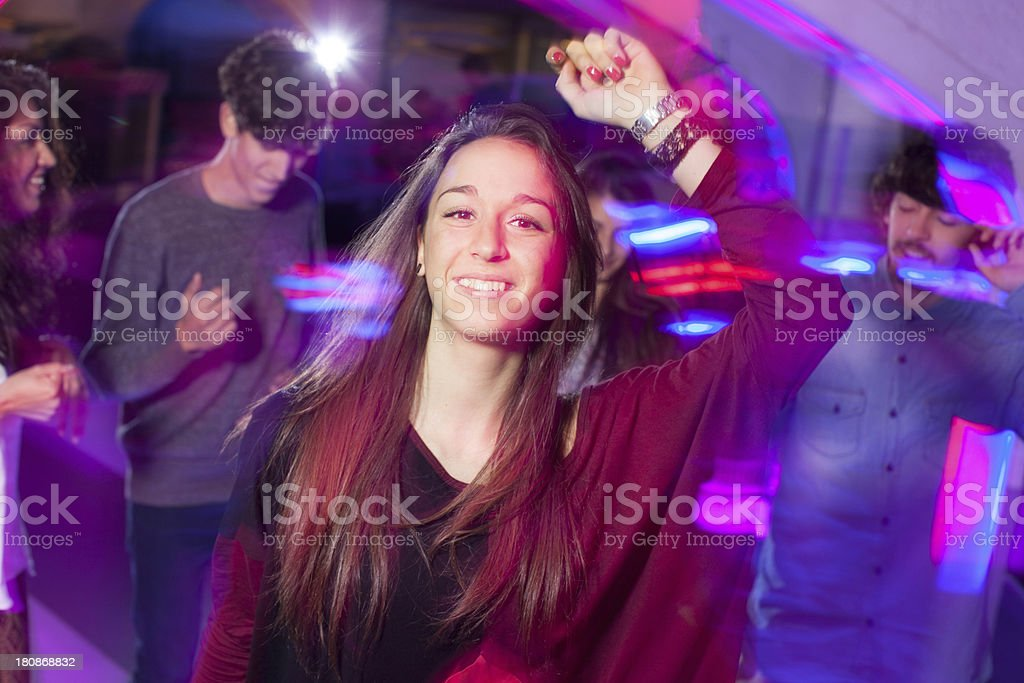 Young Woman in a disco royalty-free stock photo