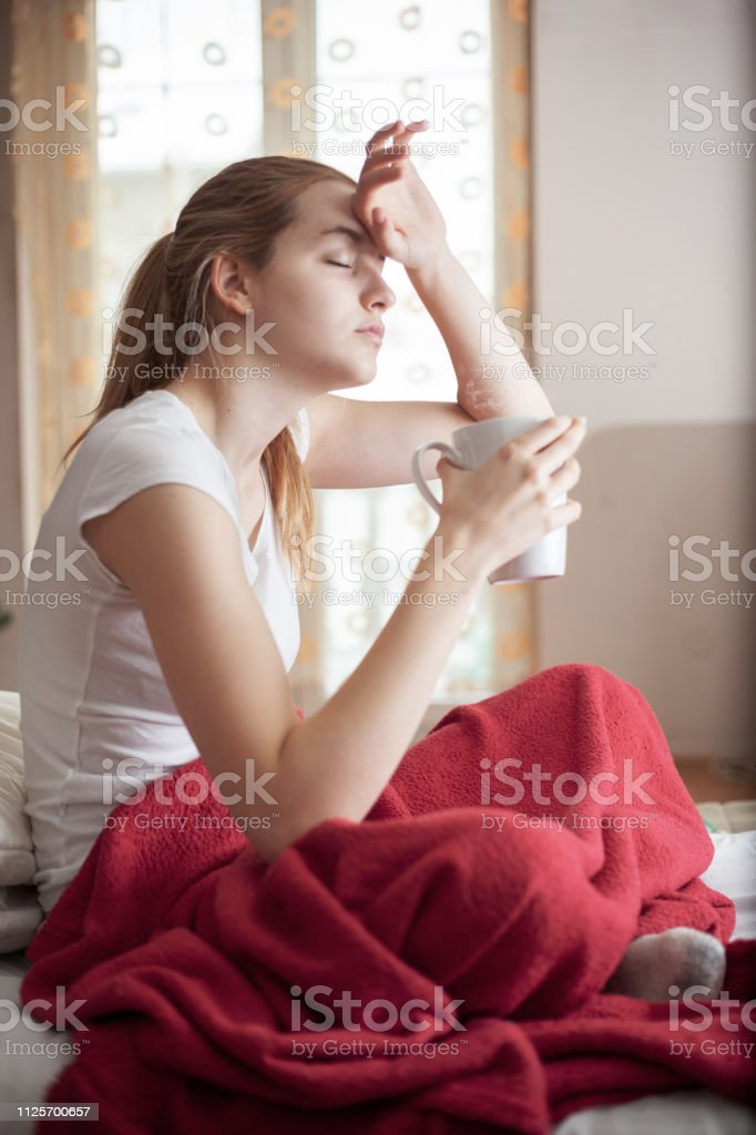Young woman in a process of healing. Very Shallow DOF. Developed from...