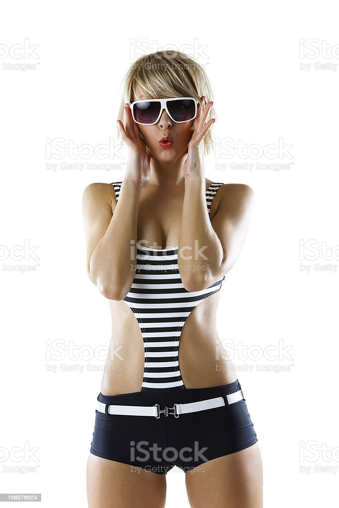 Young woman in a swimwear royalty-free stock photo