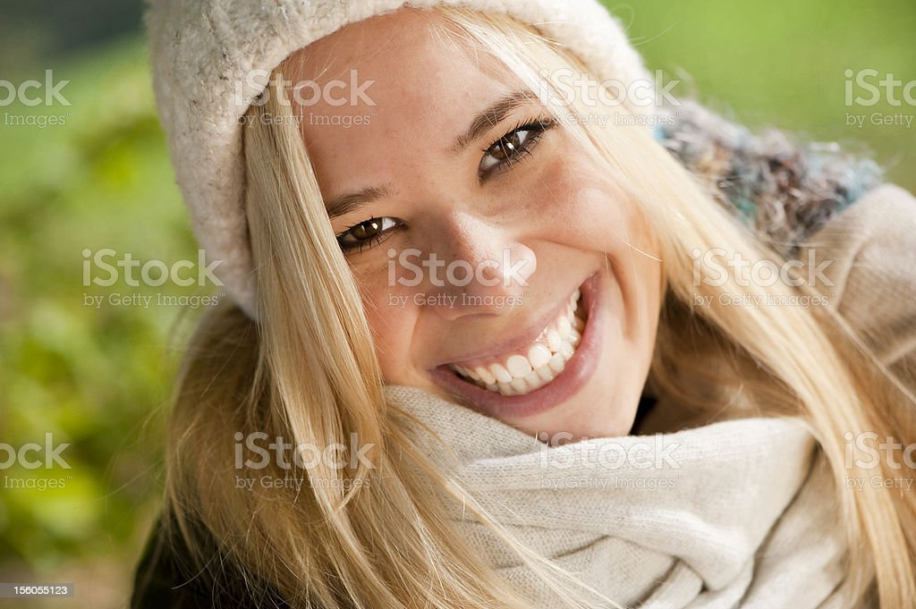 Young woman in autumn royalty-free stock photo