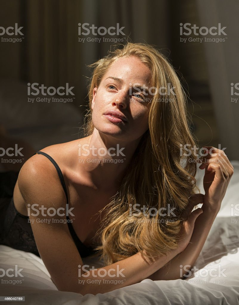 Young Woman In Bed royalty-free stock photo