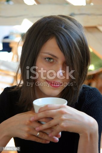 young girl with white cupwatch some more conected images:
