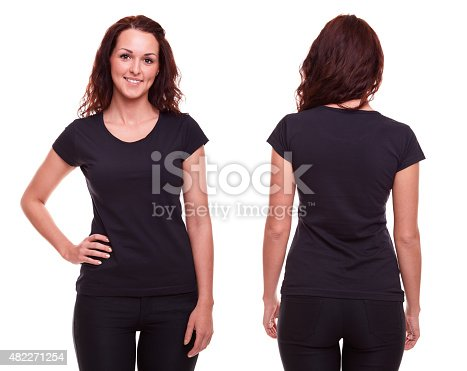 istock Young woman in black shirt 482271254