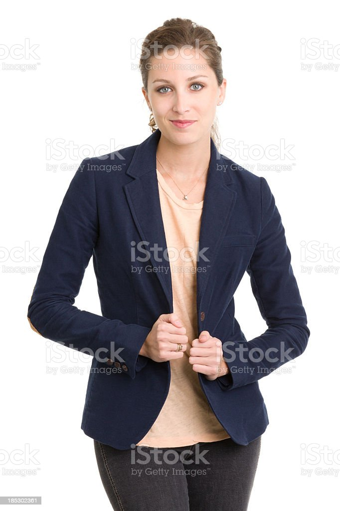 Young Woman in Blazer Posing royalty-free stock photo
