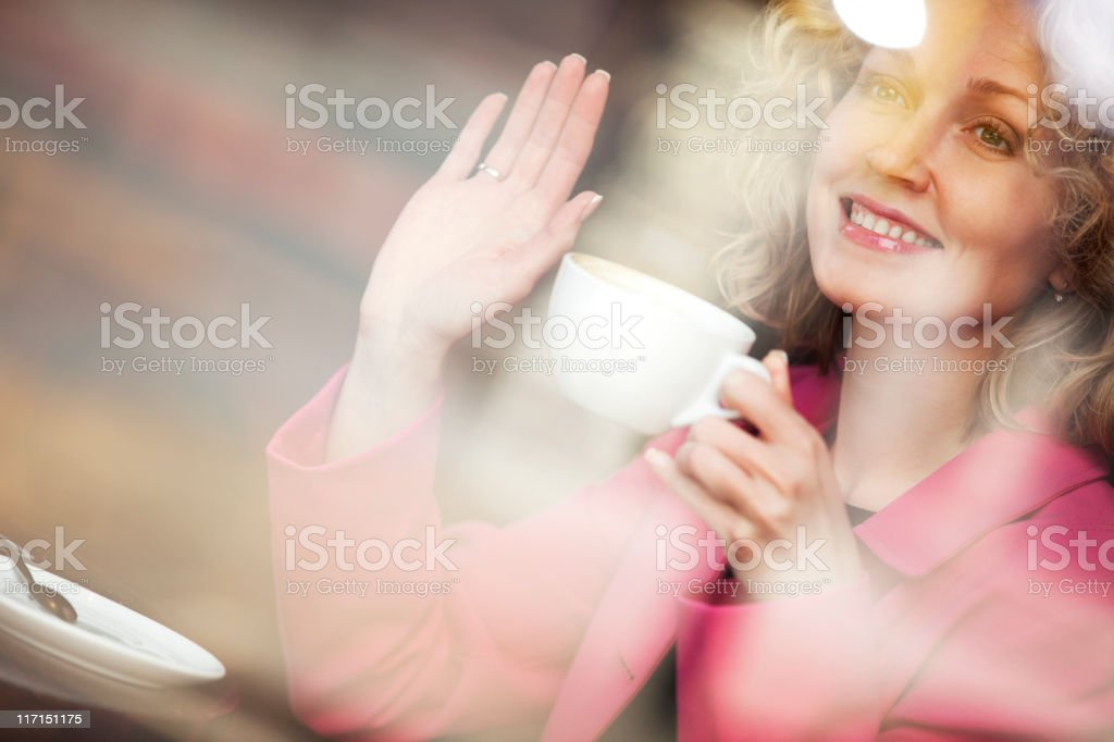 Young woman in cafe royalty-free stock photo