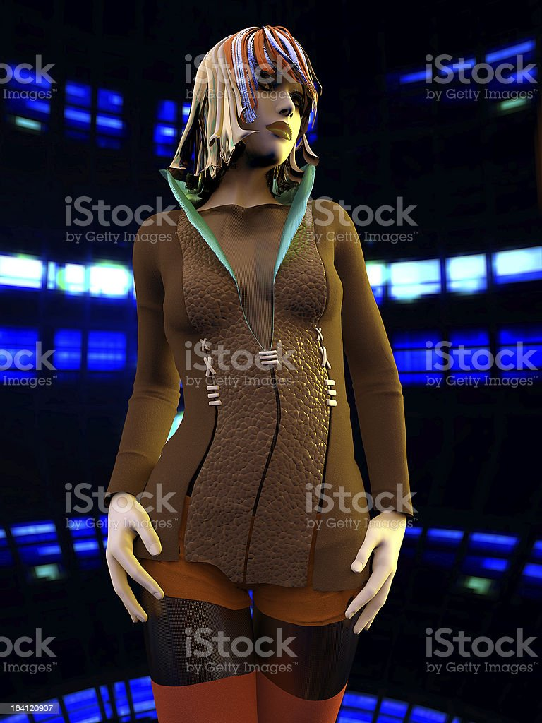 Young woman in city royalty-free stock photo