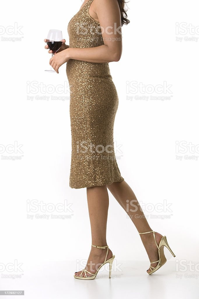 Young woman in cocktail dress royalty-free stock photo