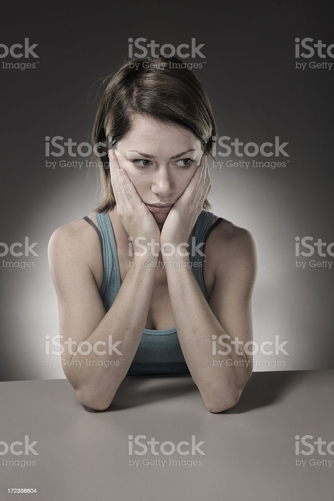 Young woman in despair royalty-free stock photo