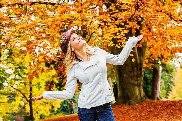 Young Woman in Fall Fashion stock photo