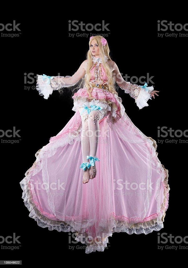 Junge Frau in fary tale Puppe Kostümspiel-Kostüm Fliegen – Foto