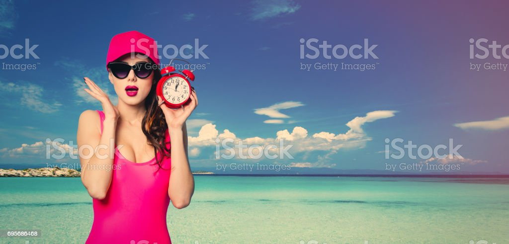 young woman in Greece stock photo