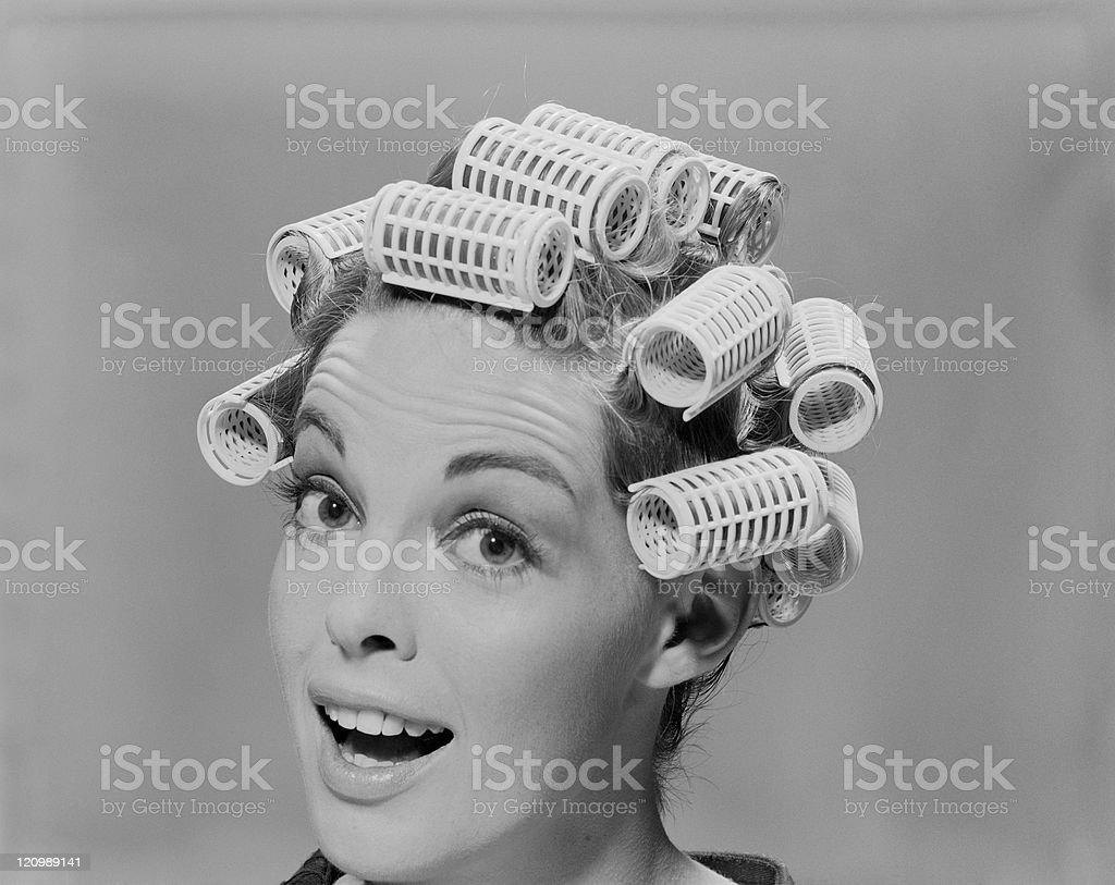Ladies Curly Roller Hair Fish Wife Wig Hair Dresser Retro Housewife Curlers