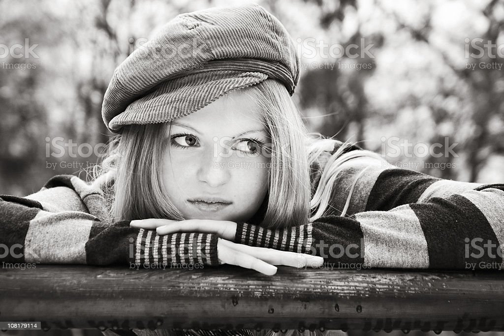 Young Woman in Hat royalty-free stock photo