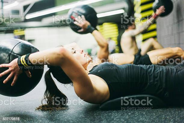 Young Woman In High Intensity Fitness Session Stock Photo - Download Image Now